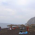 Вулканический пляж Санторини