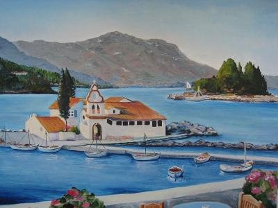 Покупка картин на Корфу