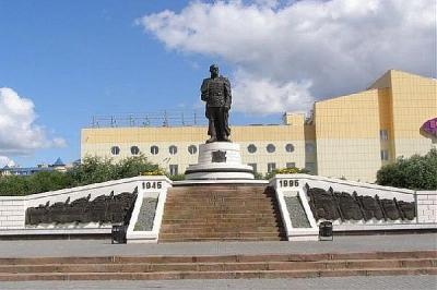 Памятника Георгию Жукову в Омске